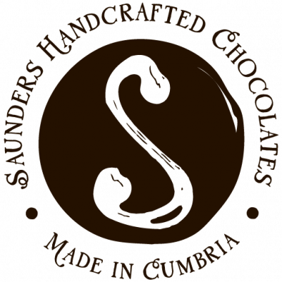 Saunders Handcrafted Chocolates - Made in Cumbria stamp